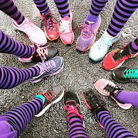 Things I Learnt In February and March - Stroke Association Resolution Run - stripy sock shot - from Instagram (Nickie O'Hara)