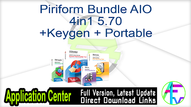 Piriform Bundle AIO 4in1 5.70 + Keygen + Portable