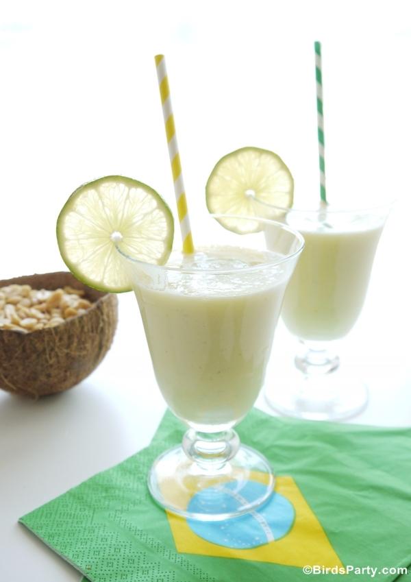 Cocktail Batida Brésilien à l'Ananas et Noix de Coco | BirdsParty.fr
