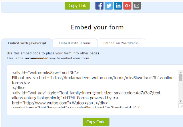 HOW TO ADD A CONTACT FORM TO YOUR BLOGGER BLOG, wufoo