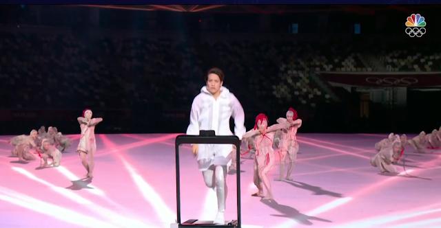 Tokyo 2021 Olympics Opening Ceremony Arisa Tsubata boxer treadmill red thread string