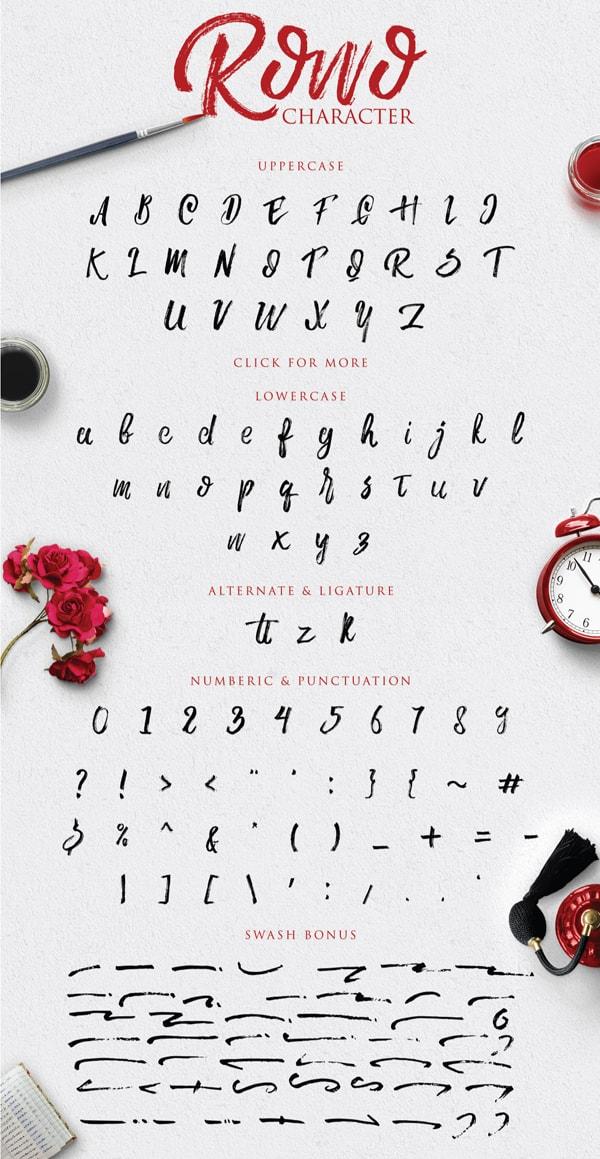 Brush font terbaik 2017 - Rowo – Free Brush Font