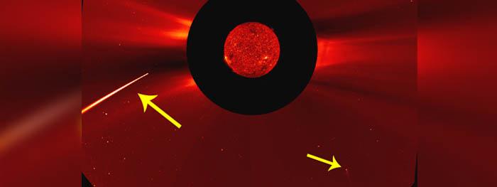 2 cometas mergulham no sol em janeiro de 2021