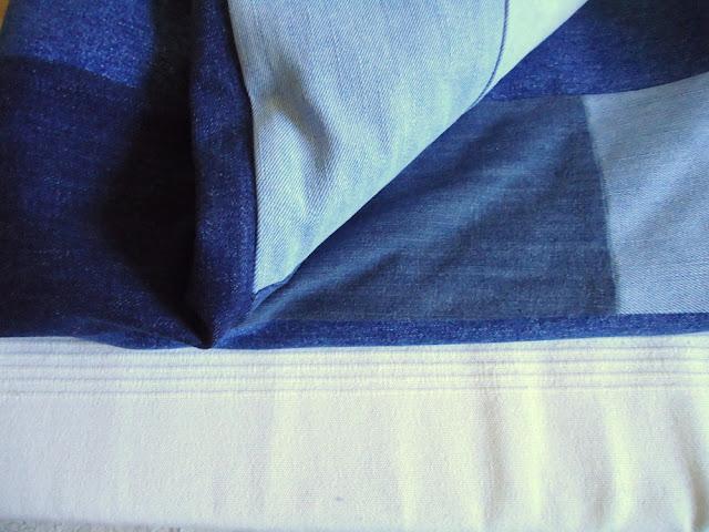 narzuta z jeansowych spodni