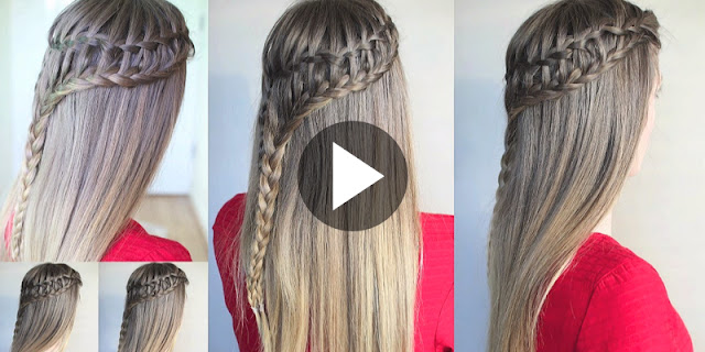 How To Create Ladder Waterfall Braid Hairstyle