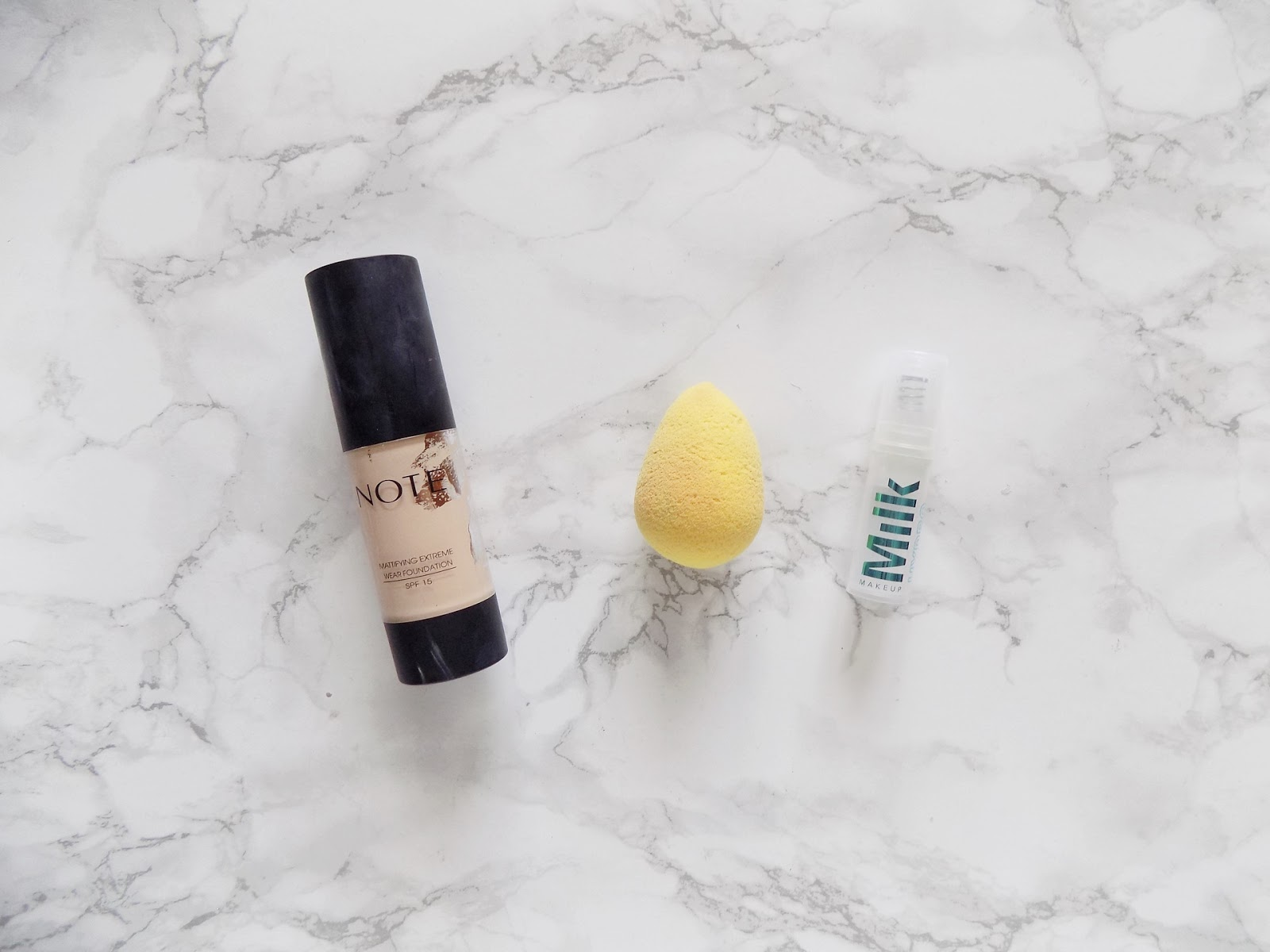 makeup empties review note foundation beauty blender