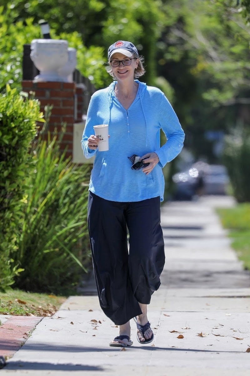 Jane Lynch Clicked Outside for Coffee in Los Angeles 3 May -2020