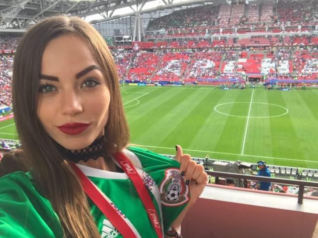 Melanie Pavola, la fan más sexy de la selección mexicana