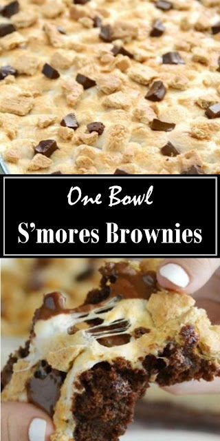 One Bowl S'mores Brownies #dessert