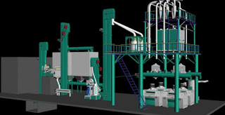 maize milling machines drawing