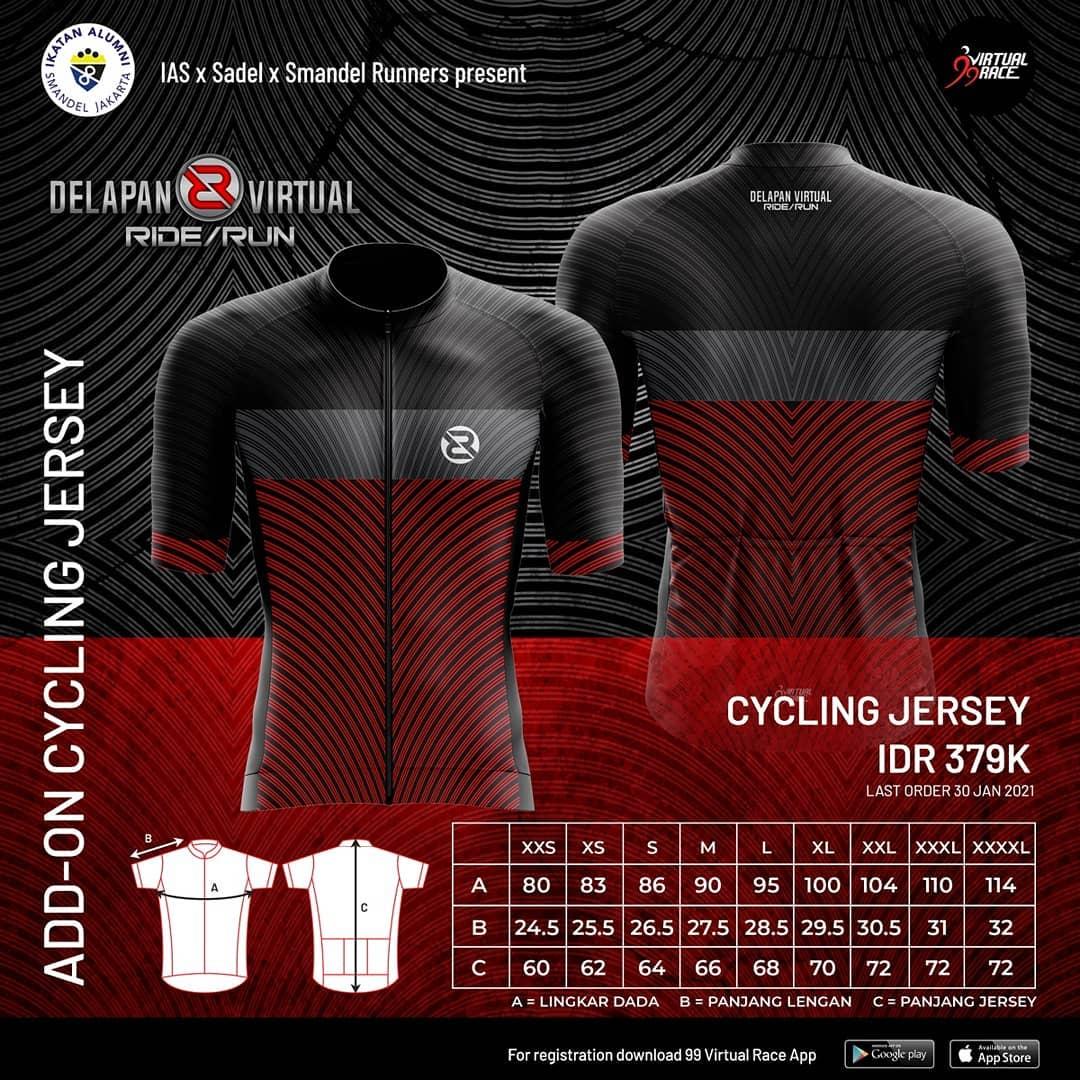 Cycling Jersey - Delapan Virtual Ride/Run • 2021