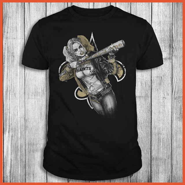 New Orleans Saints Harley Quinn T-Shirt