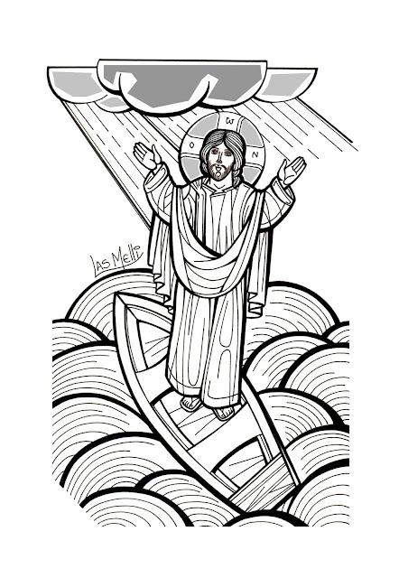 ICONO: Jesús calma la tempestad