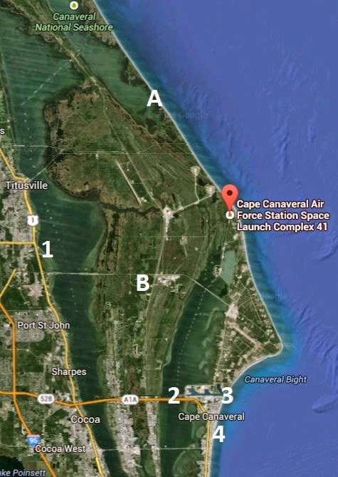 Map of Launch Complex 41 At Cape Canaveral Air Force Station, Florida