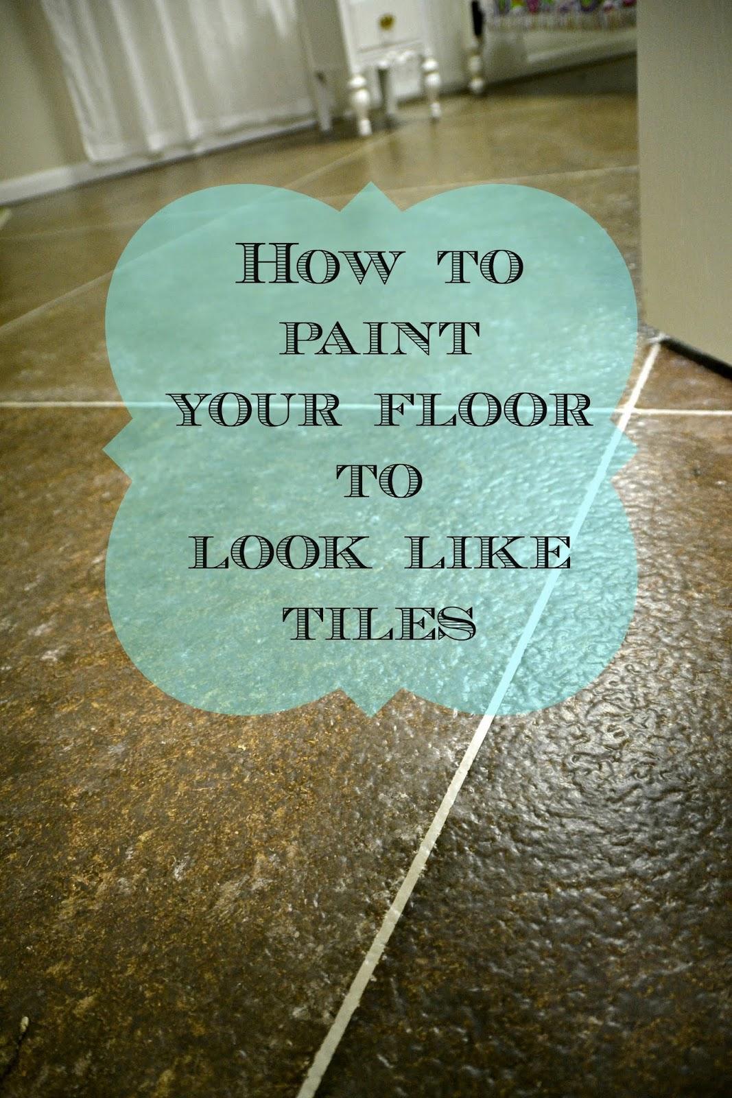 diy faux painted tile floor postcards