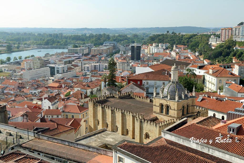 Vistas desde la torre de la Universidad de Coimbra