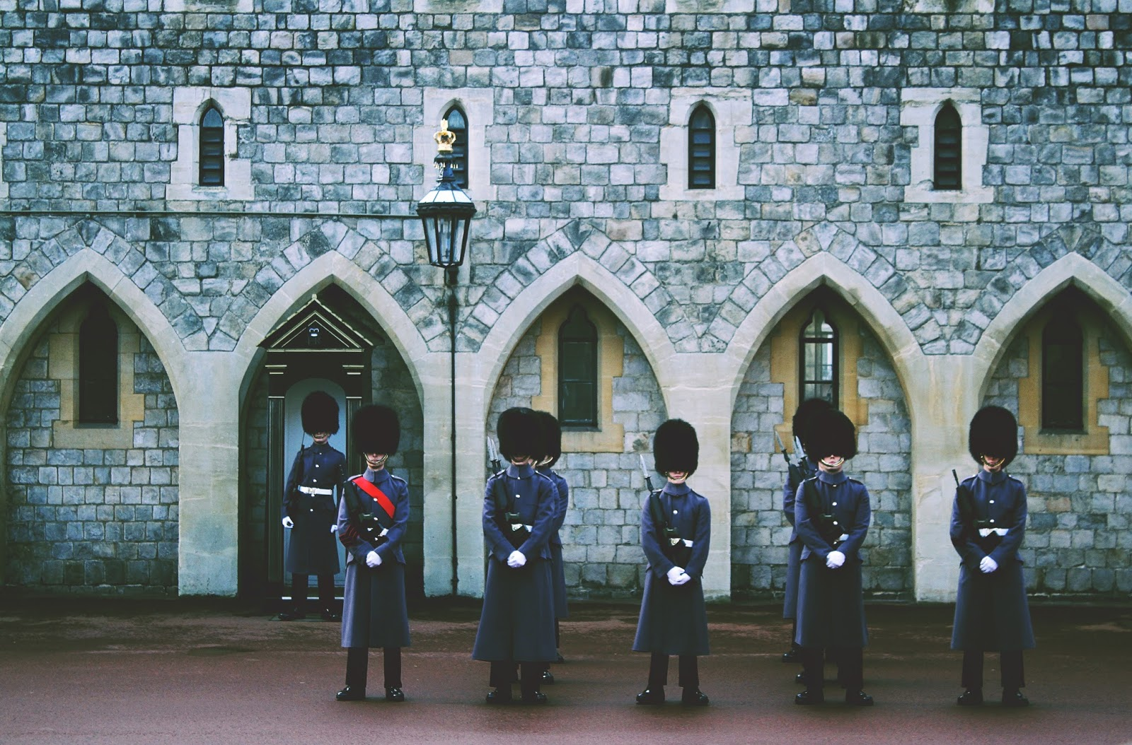 guards outside Windsor Castle, England