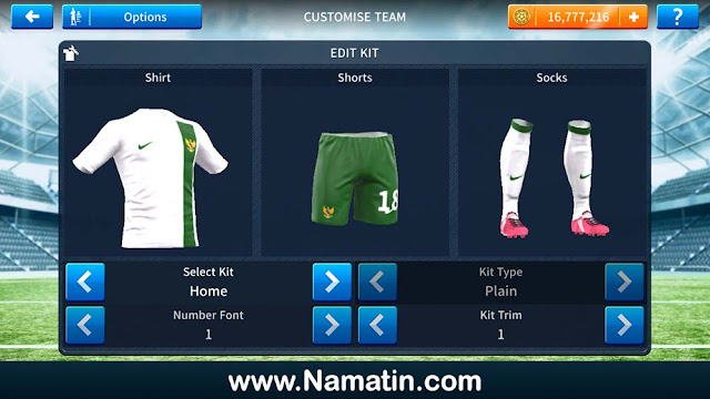 Jersey Dream League Soccer Timnas Indonesia
