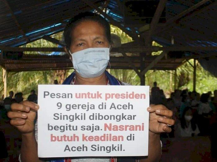 9 Gereja Dibongkar Paksa, Umat Kristen Aceh Singkil Tuntut Keadilan