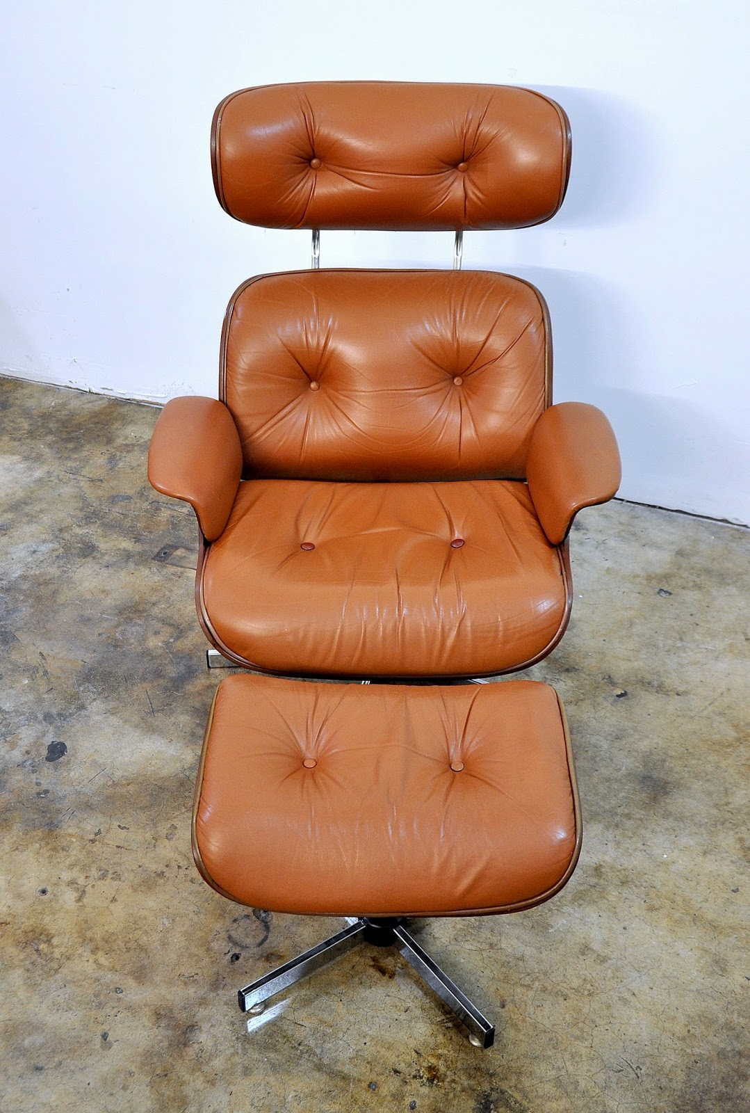 selig eames chair indoor double arm chaise lounge select modern leather and ottoman