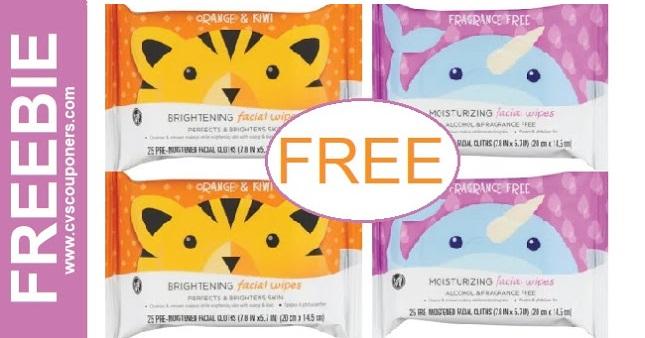 FREE CVS Health Facial Wipes at CVS 1-10-1-16