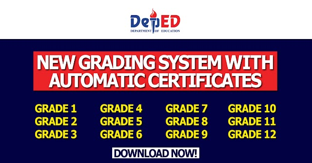 New Grading System with Automatic Certificates for Grades 1 to 12 | Free to download