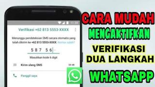 Verifikasi dua langkah di WhatsApp, Cara mengaktifkan verifikasi dua langkah di WhatsApp