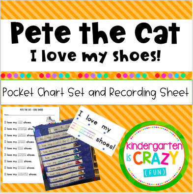 Pete the Cat I love my Shoes Pocket Chart