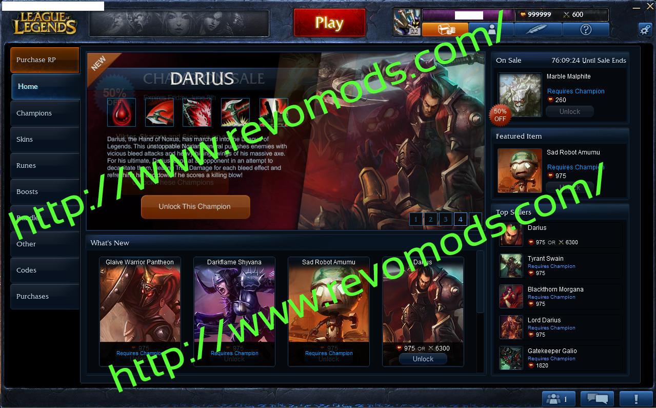 Download lol rp hack generator | League OF Legends brand new