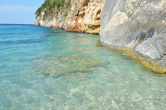 Spiaggia di Makris Gialos a Zante