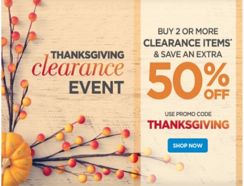 The Shopping Channel Save 50% Off Thanksgiving Clearance Event