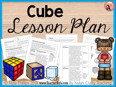 3D Shape Lesson Plan for Cubes