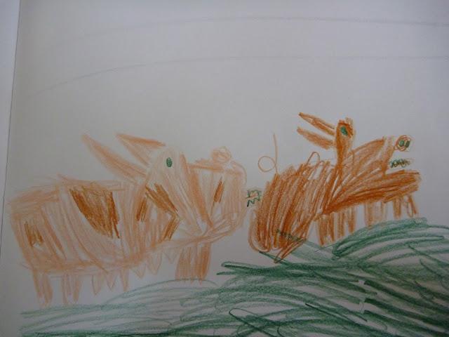Schweine mit Kindern zeichnen Malen
