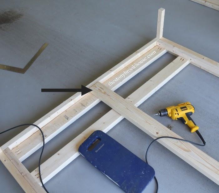 Installing center support for slats in bed frame