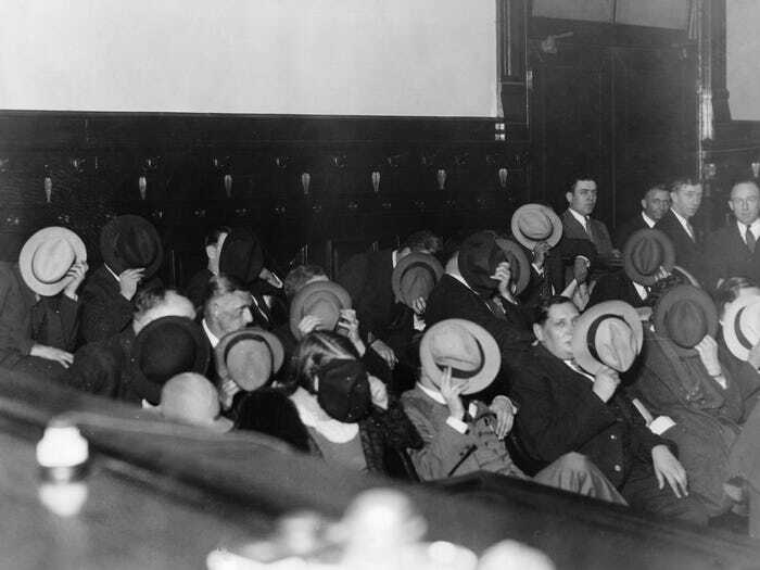 #23 Mobsters Hide Their Faces At Al Capone's Trial 1931