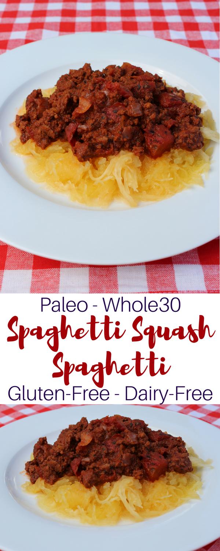 Paleo Spaghetti and Homemade Meat Sauce