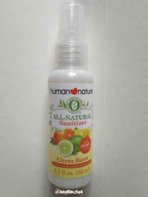Human Nature All-natural Sanitizer Review | Healthbiztips