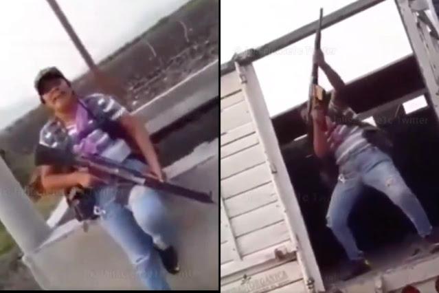 Video: La Morena Sicaria con rifle en mano amenaza a líder del CJNG aquí te topas con la gente del 50 ven aquí para que veas como te voy a destartajar el cul