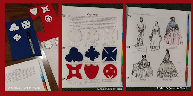 making corps badges and coloring women in civil war