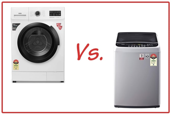 IFB Neo Diva BX (left) and LG T65SNSF1Z (right) Washing Machines.