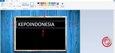 4. Untuk mengatur posisi dan letak teks, silakan kalian atur dengan mengatur posisi garis-garis yang ada di luar teks tersebut