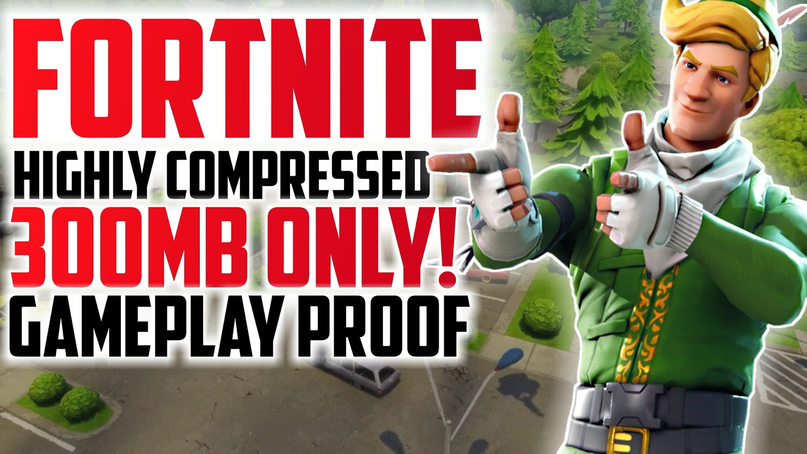 300MB) Fortnite Highly Compressed For PC For 2GB RAM PC