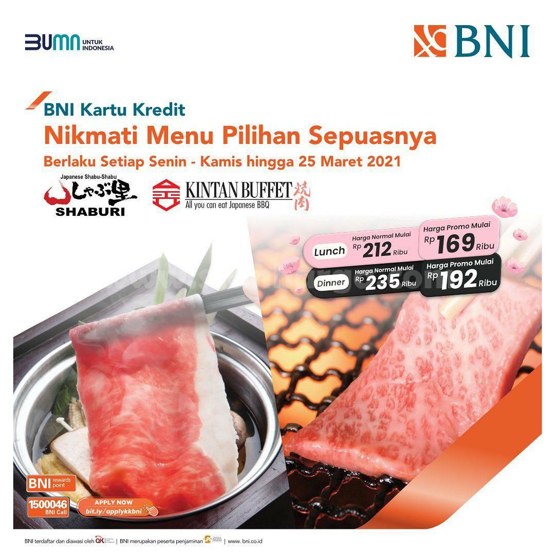 SHABURI & KINTAN BUFFET Spesial Menu Pilihan harga mulai dari Rp 169.000 dengan Kartu Kredit BNI