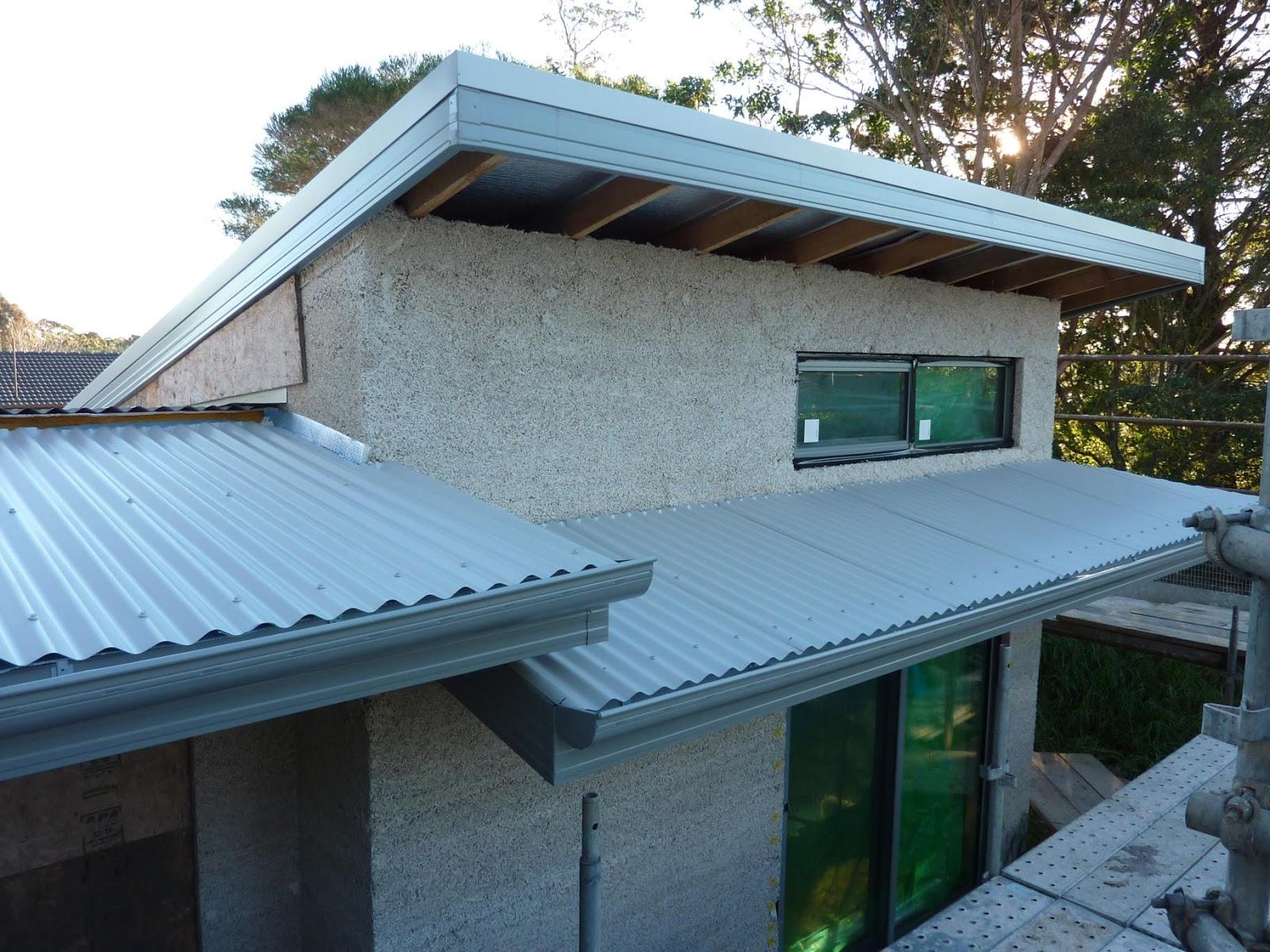 Culburra Hemp House: Awning Roof Goes On