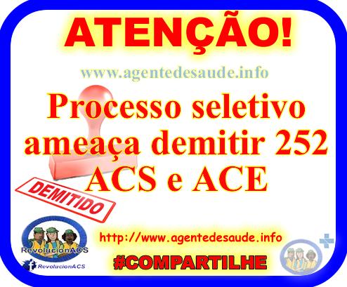 Processo seletivo ameaça demitir 252 ACS e ACE 1