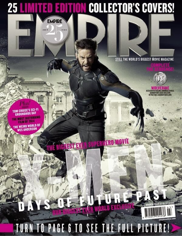 Empire covers X-Men: Days of Future Past: Lobezno
