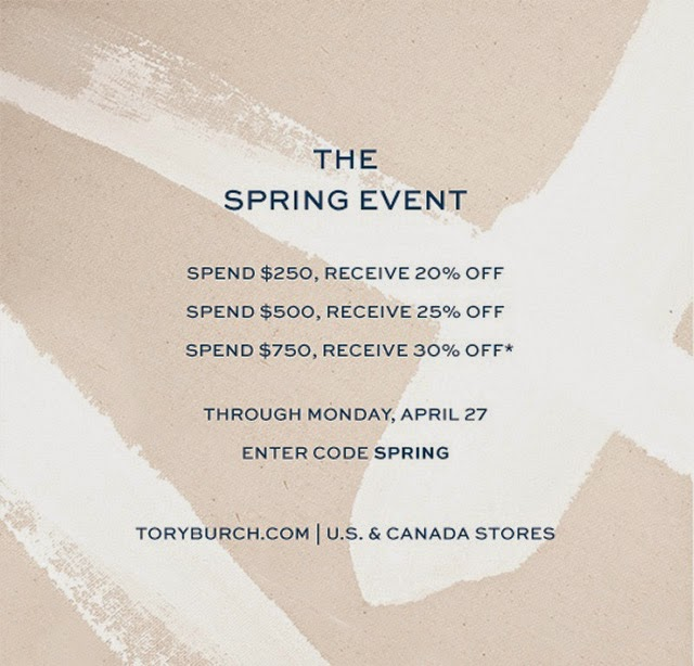 878b04a5b86c Don t forget about the Tory Burch Sale that started today! Take up to 30%  off your order with code SPRING! It s the perfect time to stock up on ...