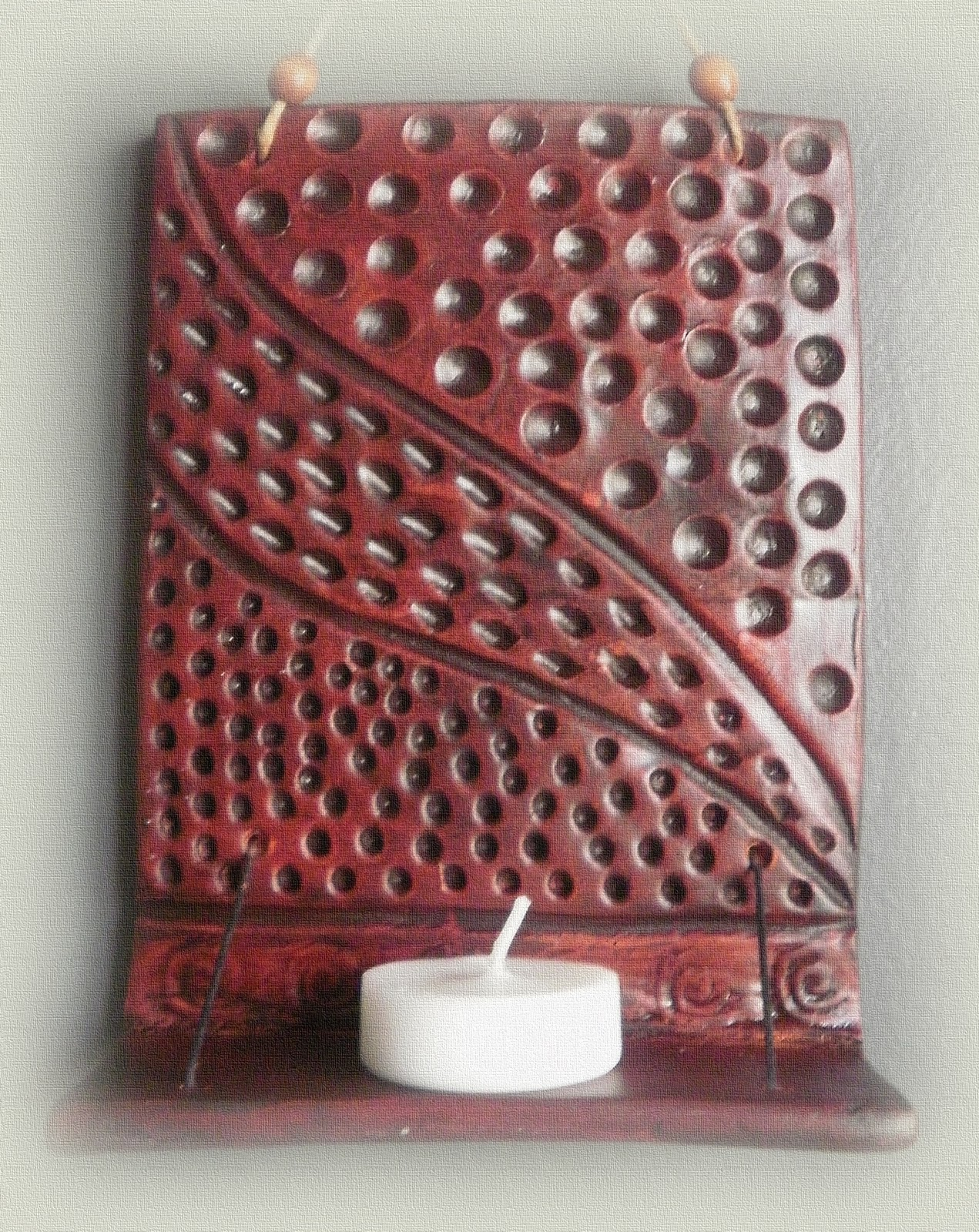 misirloumisirlou: CANDLE HOLDER for wall - DIY