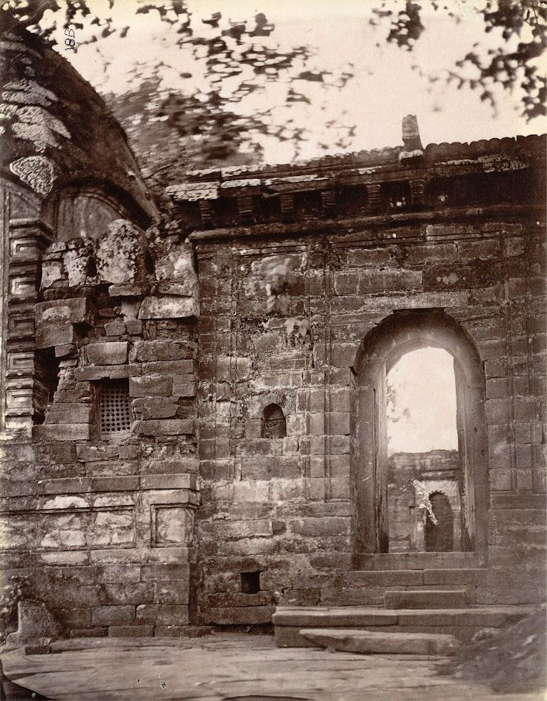 Close view of the gateway of the courtyard of the temples at Kalyanesvari (Kalyaneshwari) Burdwan district, Bengal - 1872