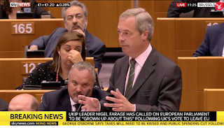 Nigel Farage's First Speech To The European Parliament After Brexit Vote